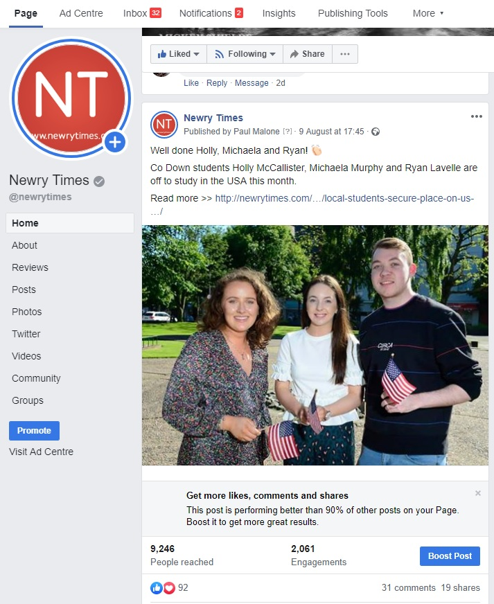 Social Media content | NI Business | Tall Paul Marketing