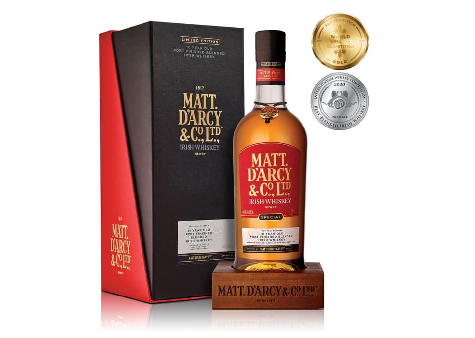 Matt D'Arcy Irish Whiskey toasts £100,000 launch sales - Content Writing Service NI - Copywriter Ireland