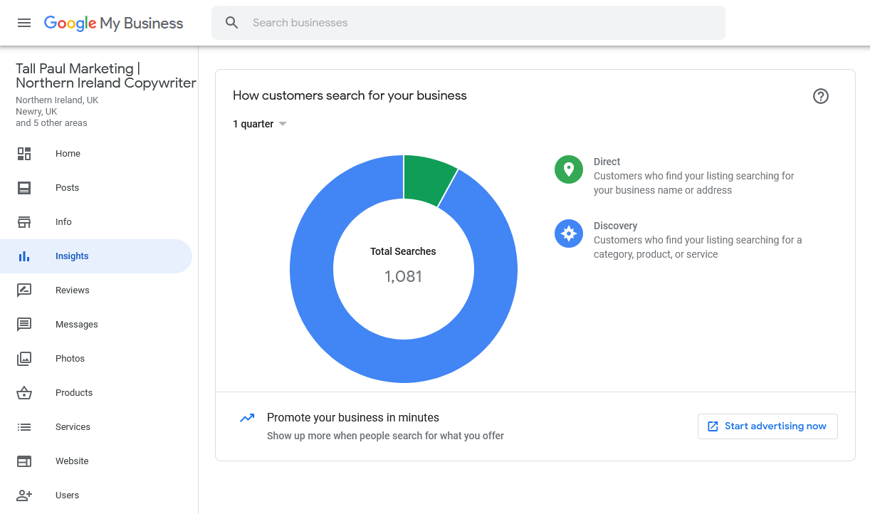 Google My Business is a great platform for improving your website's visibility and SEO - Marketing Agency NI - Belfast freelance content writer