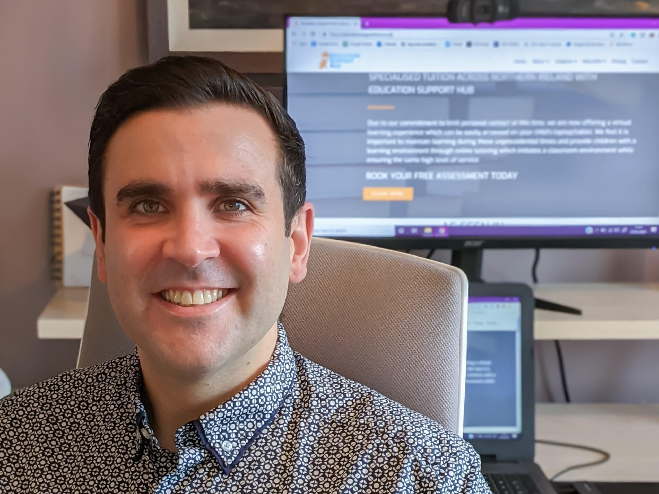 Northern Ireland Lockdown Legends - Daniel Guiney, Education Support Hub, Newry - Freelance Copywriter Belfast - Tall Paul Marketing