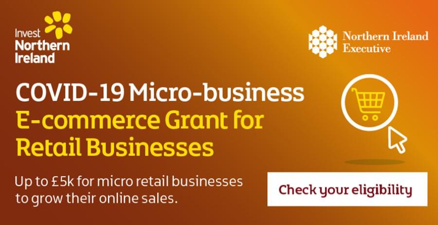 COVID-19 Micro-business E-commerce Grant - NI Covid grant funding - Digital Marketing agency Belfast - Northern Ireland web content writer