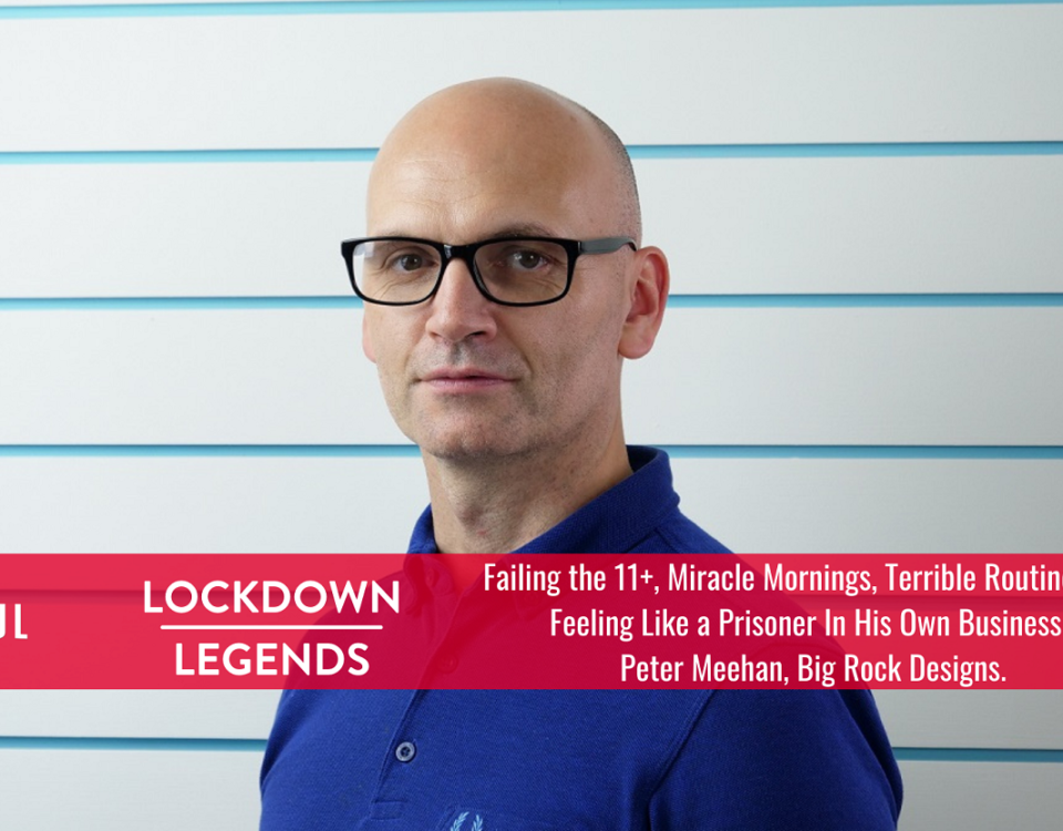 Lockdown Legends Peter Meehan, Big Rock Designs - Freelance Belfast copywriter and web content writer - Tall Paul Marketing