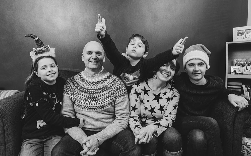 Peter Meehan and family - Lockdown Legends Peter Meehan, Big Rock Designs - NI copywriter -digital marketing