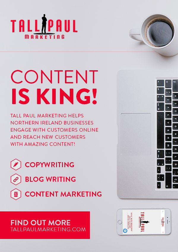 Content-is-KING - Direct Mail Marketing a5 flyer examples - northern ireland freelance writer