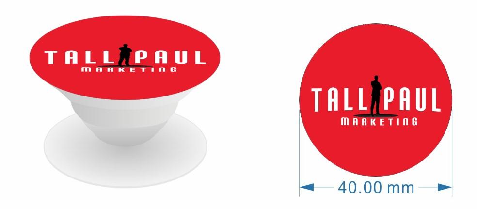 Direct Mail Marketing campaign - Tall Paul Marketing branded pop socket - NI freelance copywriter - digital marketing blog
