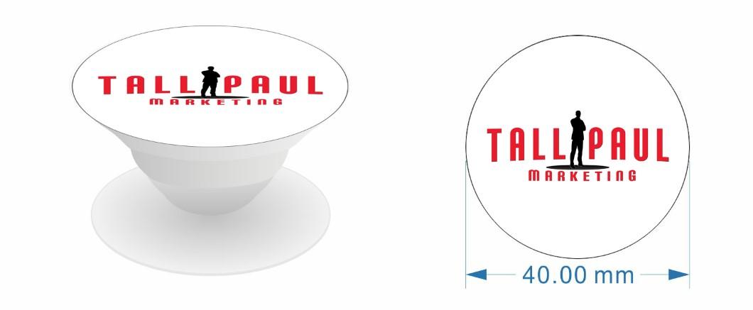 Direct Mail Marketing campaign - Tall Paul Marketing branded pop socket - NI freelance copywriter