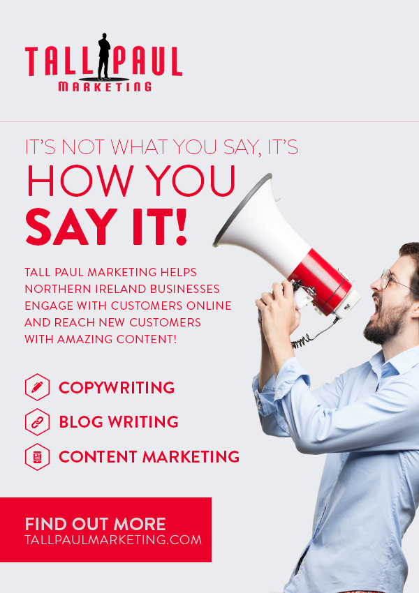 Direct Mail Marketing campaign - Tall Paul Marketing - direct mail isn't dead - copywriter in belfast