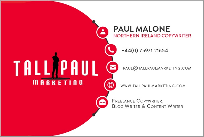 Direct Mail Marketing examples, include business cards - freelance copywriter ireland