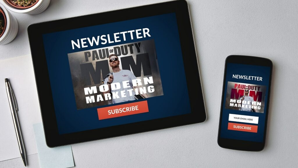A newsletter can drive traffic to your website - copywriter in belfast