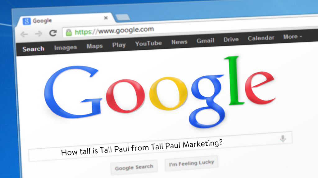 How tall is Tall Paul from Tall Paul Marketing - height 6ft6 inches - copywriting freelance ni